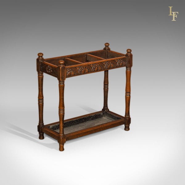 Late Victorian Oak Antique Stick Stand, c.1890 - London Fine Antiques