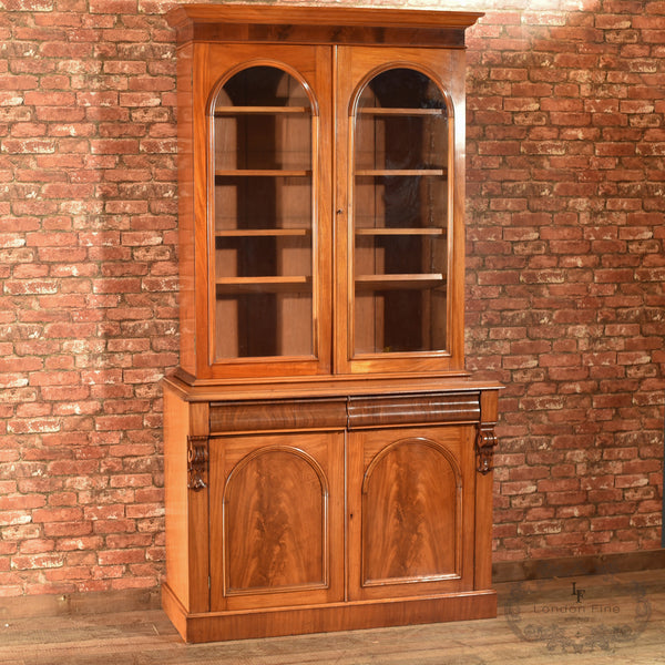 Victorian Glazed Bookcase Cabinet, c.1840 - London Fine Antiques - 1