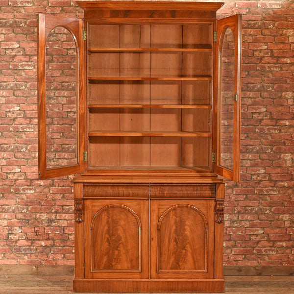 Victorian Glazed Bookcase Cabinet, c.1840 - London Fine Antiques - 3