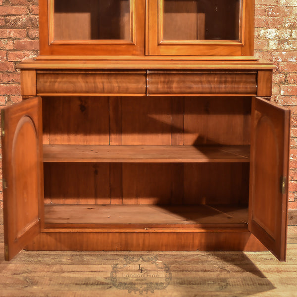 Victorian Glazed Bookcase Cabinet, c.1840 - London Fine Antiques - 8