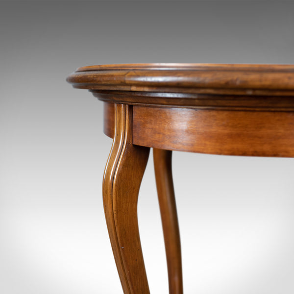 Antique Tea Table, Italian, Mahogany, Leather, Occasional, Side, Circa 1900 - London Fine Antiques