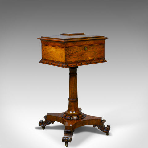 Antique Teapoy, English, William IV, Rosewood, Work Box, 19th Century Circa 1835 - London Fine Antiques