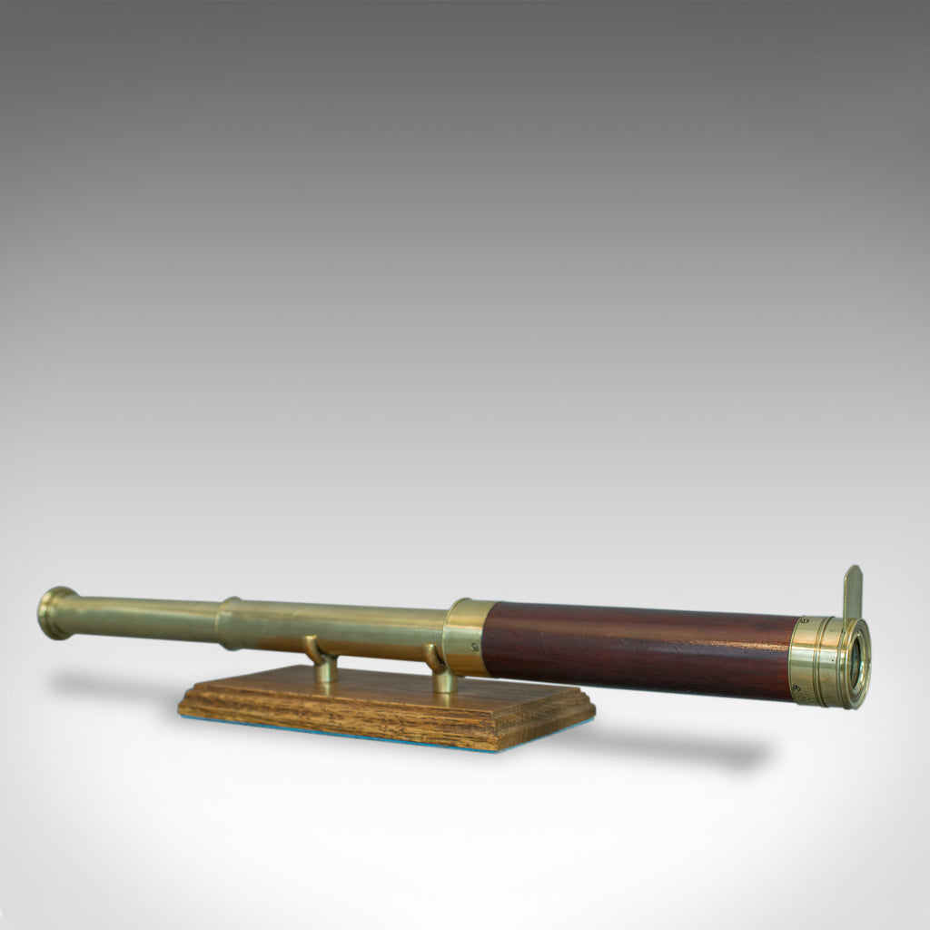 Antique Telescope, 2 Draw Refractor, Terrestrial, Astronomical, English, C.1810