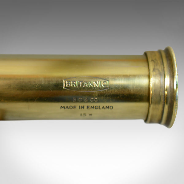 Antique Telescope, 3 Draw, Pocket Refractor, Broadhurst Clarkson, 20th Century - London Fine Antiques