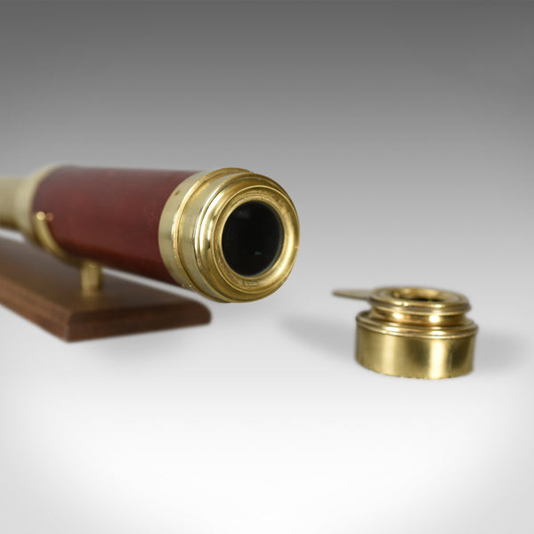 Antique Telescope, Three Draw Refractor, English, Late Georgian Circa 1800 - London Fine Antiques