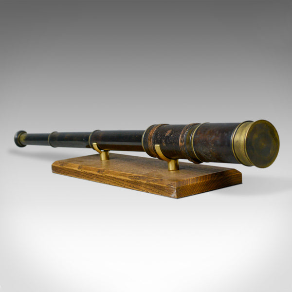 Antique Telescope, Three Draw, Refractor, English Victorian, Spotter, Circa 1880