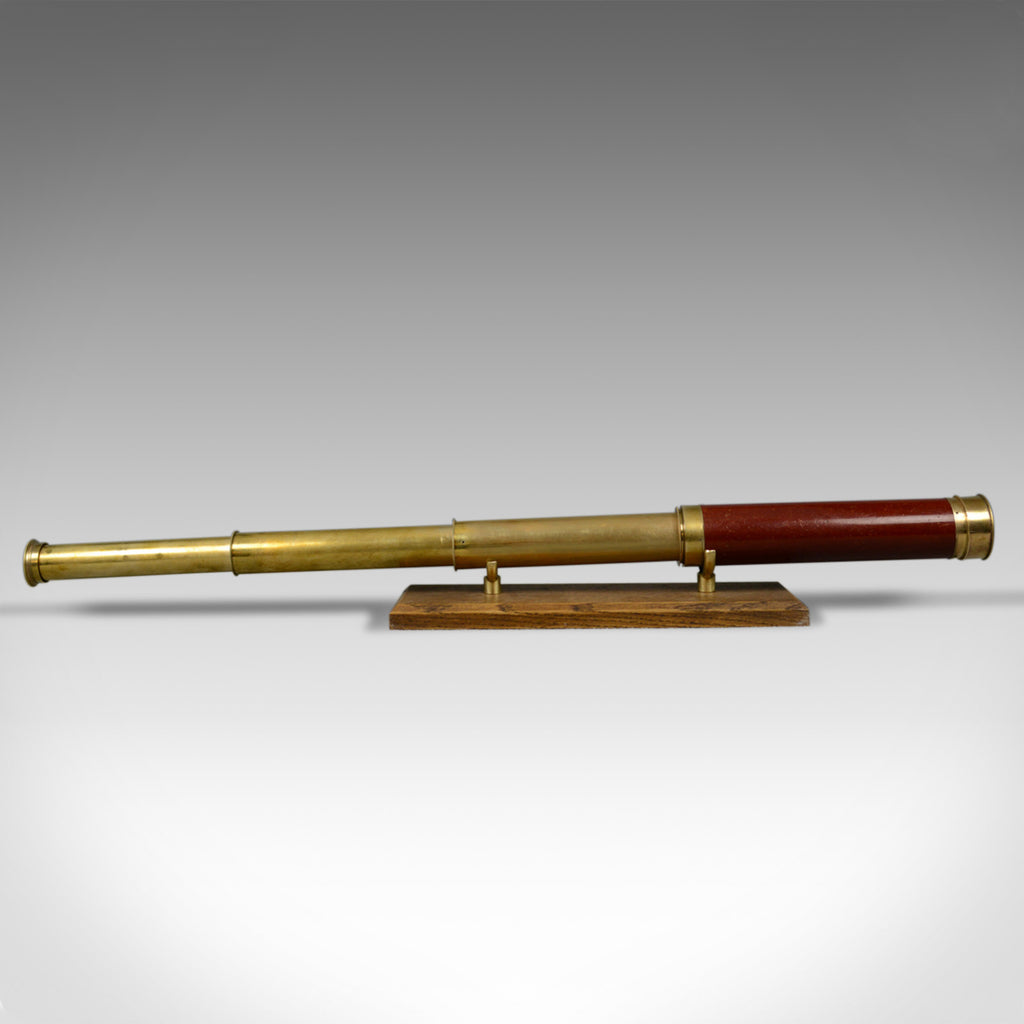 Antique Telescope, Three Draw, Refractor, Georgian, C. West, London c.1820