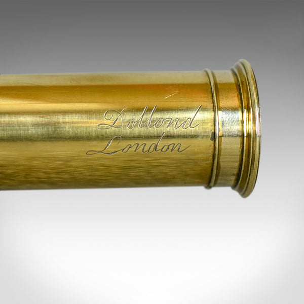 Antique Telescope, Three Draw Terrestrial, Achromatic, Refractor, Dollond c.1800 - London Fine Antiques