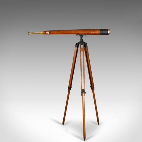 "Antique Telescope, Tripod, 3"" Refractor, Terrestrial Astronomical T Cooke & Sons"