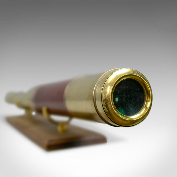 Antique, Telescope, Two Draw, Mahogany, Brass, J.P. Cutts, London Circa 1836-9 - London Fine Antiques