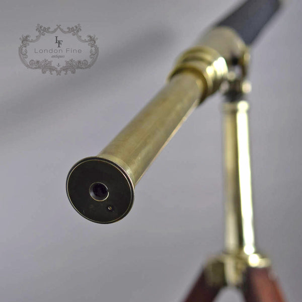"C19th 2.5"" Telescope, Wood (late Abraham) c.1880 - London Fine Antiques - 6"