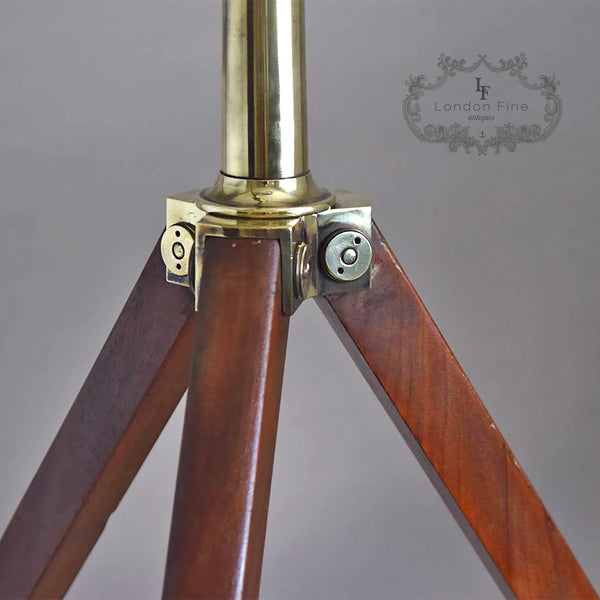 "C19th 2.5"" Telescope, Wood (late Abraham) c.1880 - London Fine Antiques - 7"