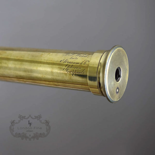 "C19th 2.5"" Telescope, Wood (late Abraham) c.1880 - London Fine Antiques - 8"