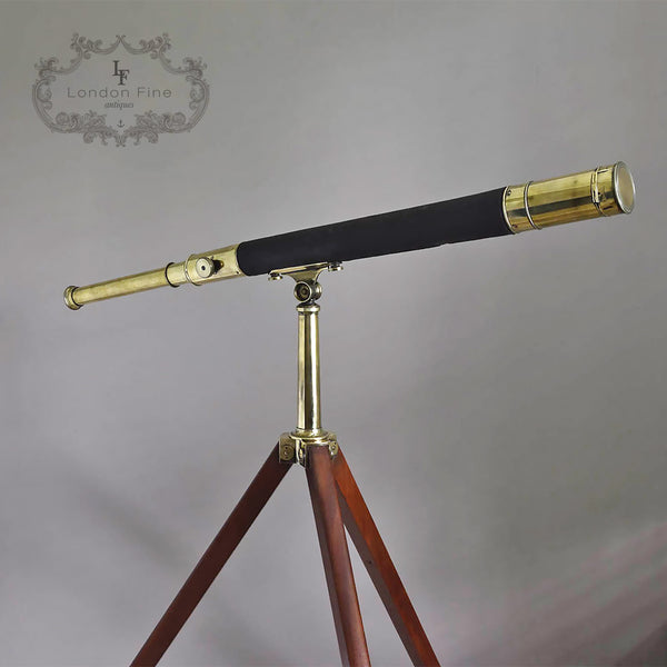 "C19th 2.5"" Telescope, Wood (late Abraham) c.1880 - London Fine Antiques"