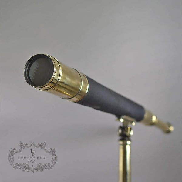 "C19th 2.5"" Telescope, Wood (late Abraham) c.1880 - London Fine Antiques - 3"