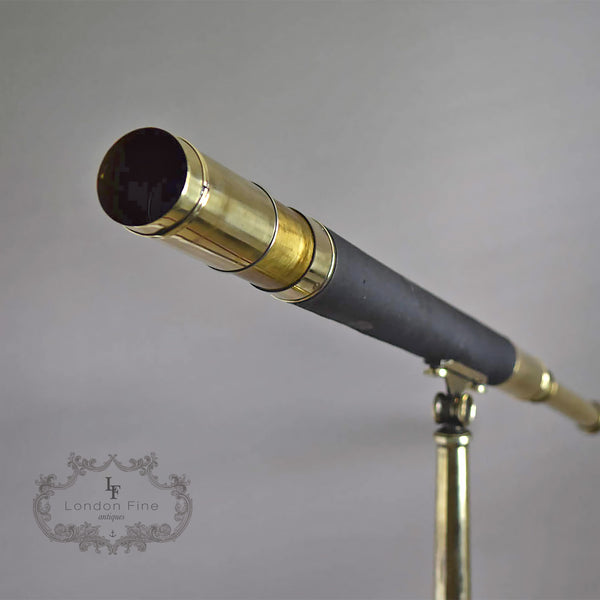 "C19th 2.5"" Telescope, Wood (late Abraham) c.1880 - London Fine Antiques - 4"