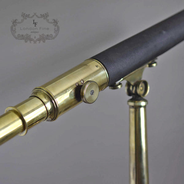 "C19th 2.5"" Telescope, Wood (late Abraham) c.1880 - London Fine Antiques - 5"