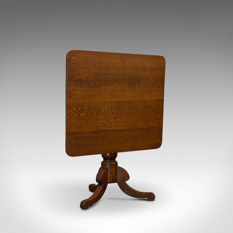 Antique Tilt-Top Table, English, Victorian, Oak, Side, Lamp, Card, Circa 1850 - London Fine Antiques