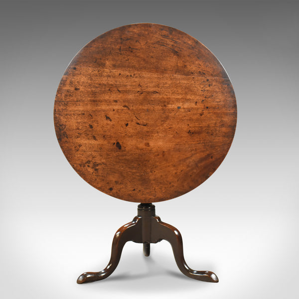 Antique Tilt Top Table, Circular, Georgian, Mahogany, Side c.1780 - London Fine Antiques