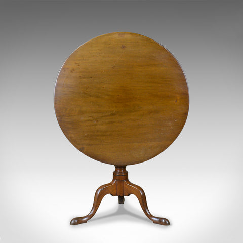 Antique Tilt Top Table, English, Mahogany, Side, Early 19th Century, Circa 1800