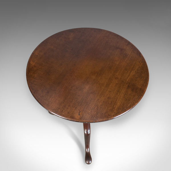 Antique Tilt Top Table, Georgian, Circular, Mahogany, Side, Circa 1800 - London Fine Antiques