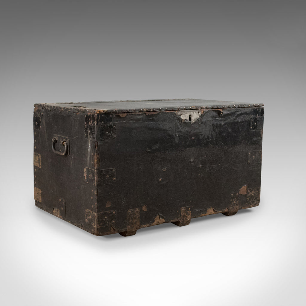 Antique Tool Chest, English, Victorian, Metal Bound, Mahogany, Trunk Circa 1900 - London Fine Antiques