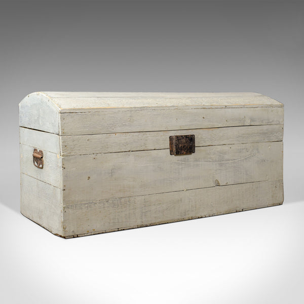 Antique Carriage Trunk, Painted, Pine, Victorian, Dome Topped Chest, Circa 1890 - London Fine Antiques