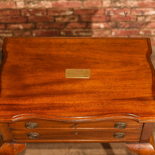 Early 20th Century Two Drawer Side Table - London Fine Antiques - 12