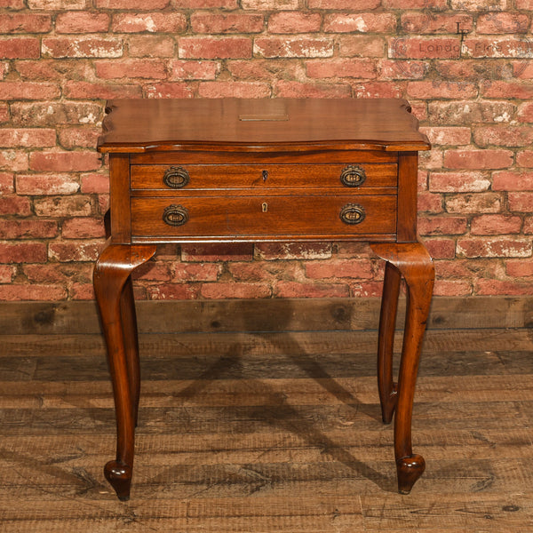 Early 20th Century Two Drawer Side Table - London Fine Antiques - 4