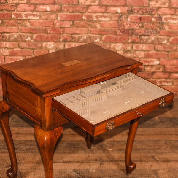 Early 20th Century Two Drawer Side Table - London Fine Antiques - 9