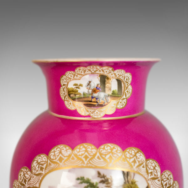 Antique Vase, Large, German, Porcelain, Flower, AR, Ceramics Late 19th Century - London Fine Antiques