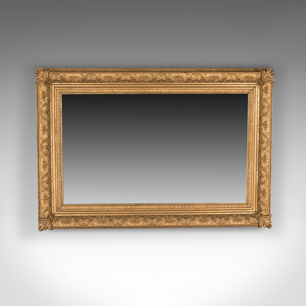Large Antique Wall Mirror, Victorian, Gilt Gesso Frame, Overmantel Circa 1880
