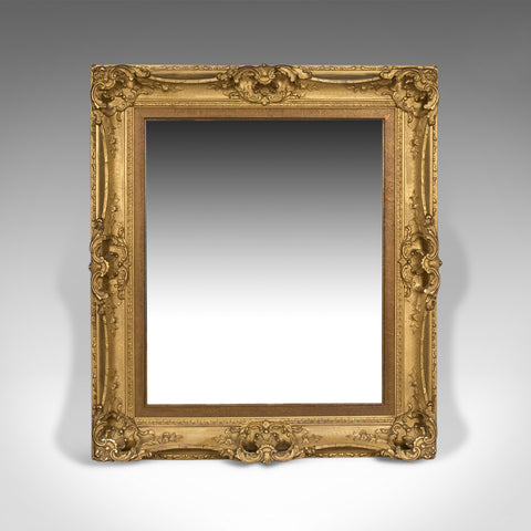 Antique Wall Mirror, English, Victorian, Picture Frame, 19th Century Circa 1900
