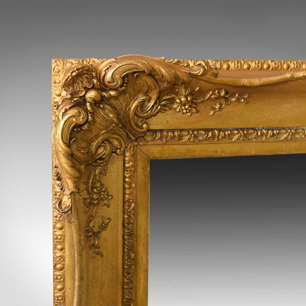 Antique Wall Mirror Gilt Gesso Frame, Overmantel, English Victorian, Circa 1850 - London Fine Antiques