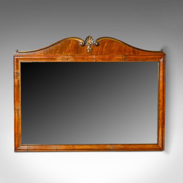 Antique Wall Mirror, French, Empire Revival, Overmantel, Walnut, Early C20th