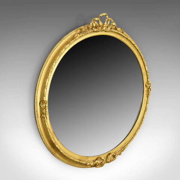 Antique Wall Mirror, Georgian, Ovular, Giltwood and Gesso, Circa 1800 - London Fine Antiques