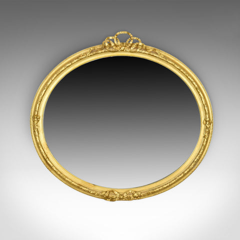 Antique Wall Mirror, Georgian, Ovular, Giltwood and Gesso, Circa 1800