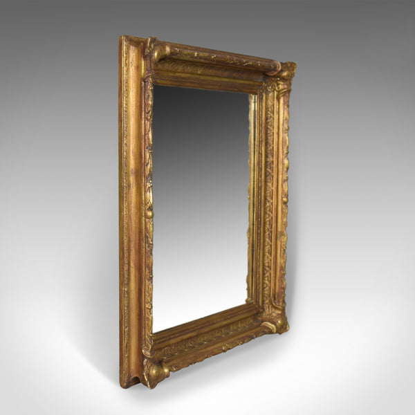 Antique Wall Mirror Victorian Gilt Gesso Frame, English, Overmantel Circa 1900 - London Fine Antiques
