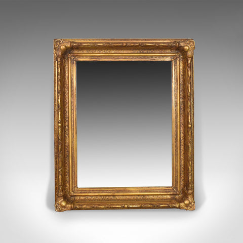 Antique Wall Mirror Victorian Gilt Gesso Frame, English, Overmantel Circa 1900