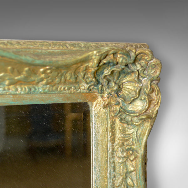 Antique Wall Mirror, Victorian, Painted Gilt Gesso Frame, Classical Taste c.1890 - London Fine Antiques