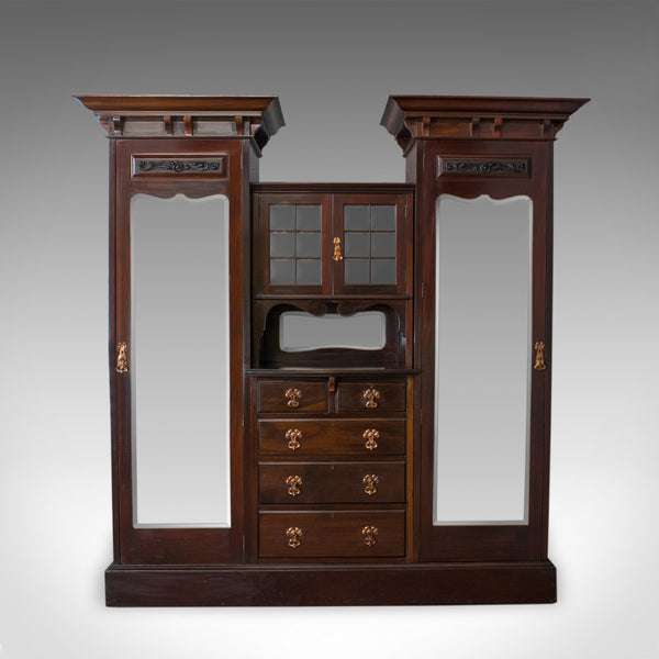 Antique Wardrobe, Maple and Co, English, Mahogany, Victorian, Art Nouveau C.1880 - London Fine Antiques