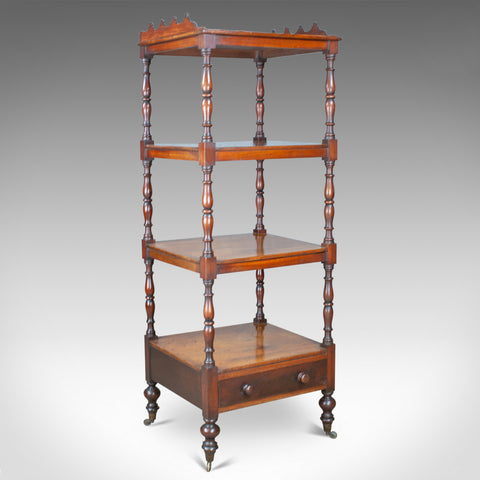 Antique Whatnot, English, Mahogany, Four Tier, Regency, Display Stand, c.1820 - London Fine Antiques