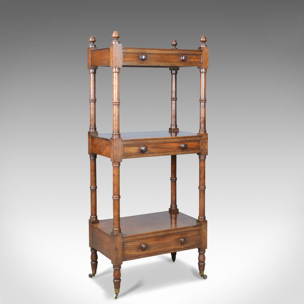 Antique Whatnot, English, Mahogany, Three Tier, Victorian, Display Stand, c.1860 - London Fine Antiques