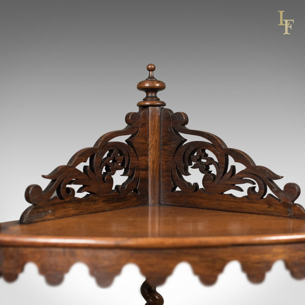 Antique Whatnot, English, Victorian, Rosewood, Corner Display Stand, c.1860 - London Fine Antiques