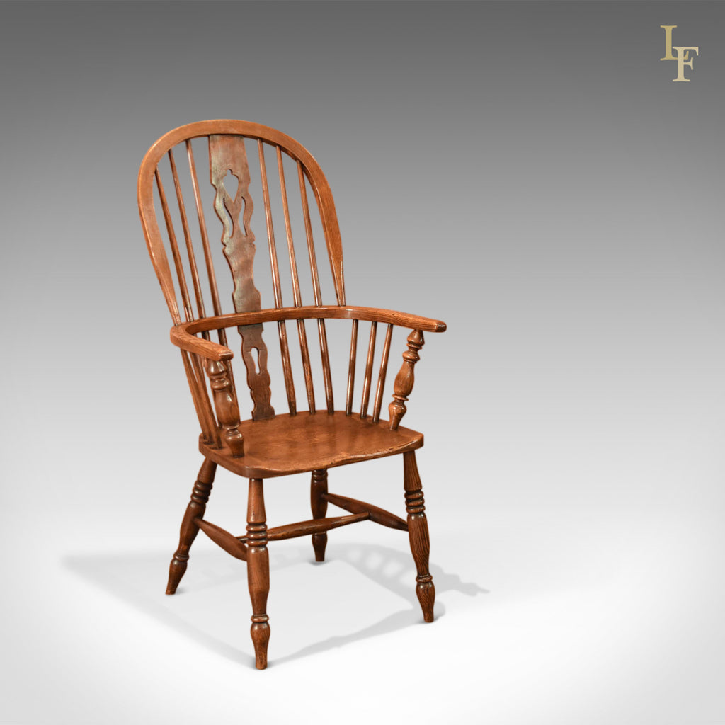 Antique Windsor Stick Back Chair, Victorian c.1870 - London Fine Antiques