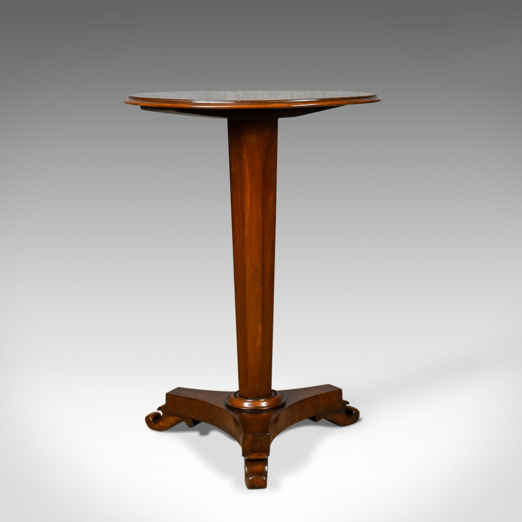 Antique Wine Table, English, Regency, Mahogany, Tripod, Side, Circa 1830