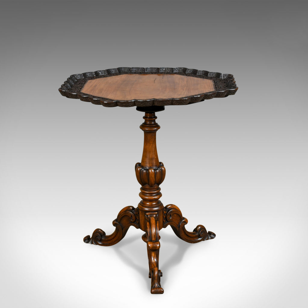 Antique Wine Table, English, Victorian, Octagonal, Side, Rosewood, Circa 1870