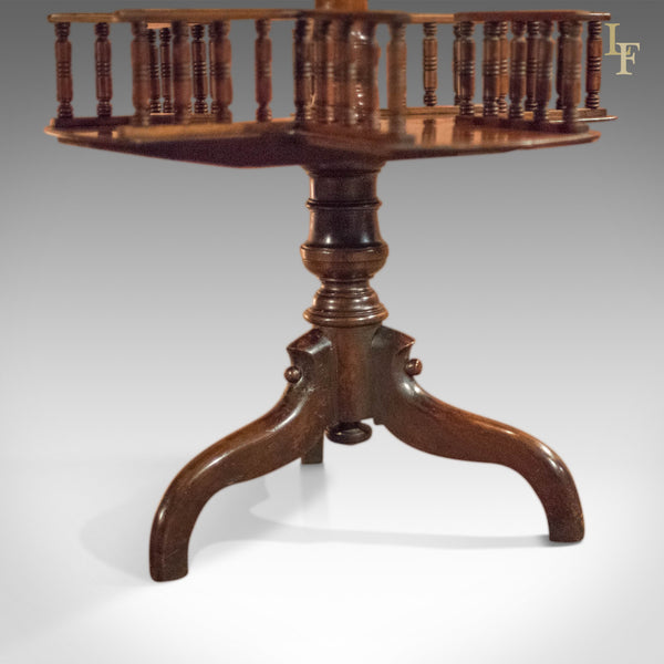 Victorian Wine Table/Bookshelf, c.1850 - London Fine Antiques