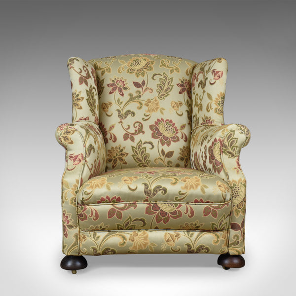 Antique Wing Back Armchair, English, Victorian, Deep, Club Chair, Circa 1900 - London Fine Antiques