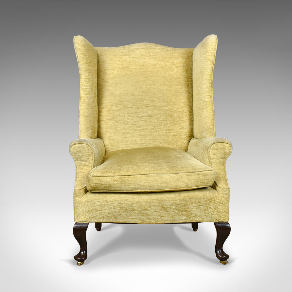 Antique Wing Back Armchair, Victorian Easy Chair, Late ...